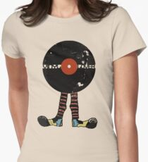 Funny Vinyl Records Lover - Grunge Vinyl Record Women's Fitted T-Shirt