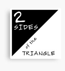 Two Sides Of The Triangle Canvas Print