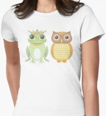 Frog & Owl Womens Fitted T-Shirt