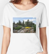 Rock Garden With Pines Women's Relaxed Fit T-Shirt