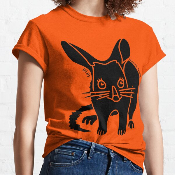 Bilby. Iconic Australian Animal silhouette with name. Classic T-Shirt