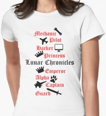 Lunar Chronicle characters Women's Fitted T-Shirt