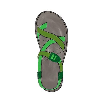 Green Chacos by alitmcgary