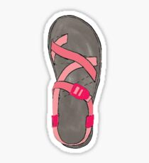 Pink Chaco Shoes  Sticker
