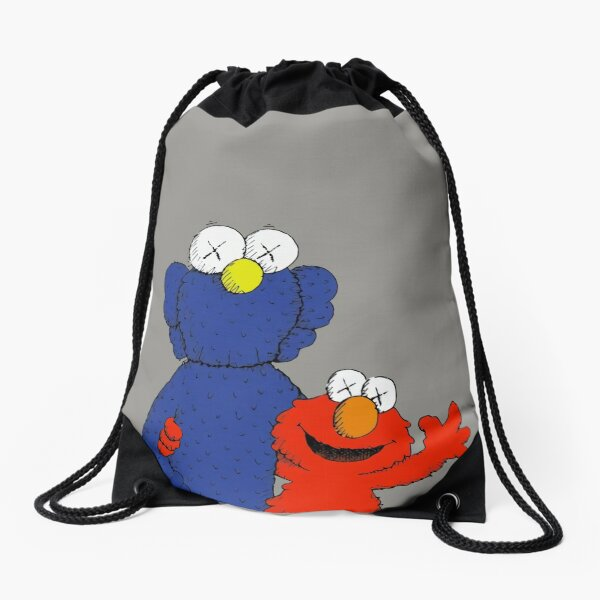 Elmozz and friend Drawstring Bag
