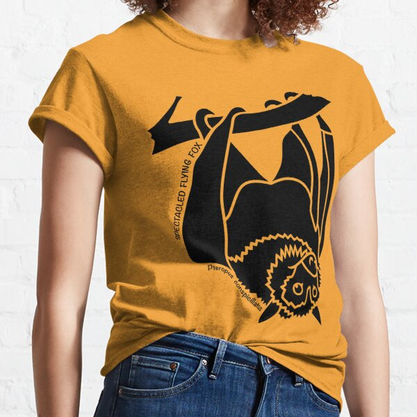 Spectacled Flying Fox. Iconic Australian Animal. Silhouette. Classic T-Shirt