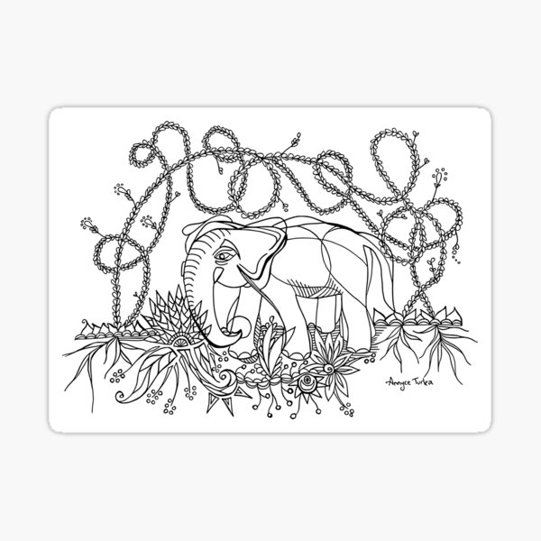 Roaming Elephant Sticker
