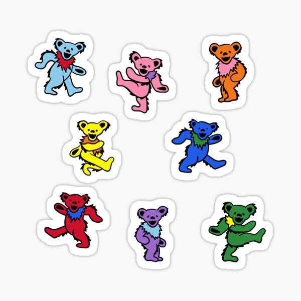 Mini Dancing Bears Sticker