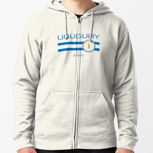 Uruguayan Shredded Rip Through Country Flag Uruguay Hoodie Pullover