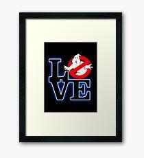 Love Park Ghostbusters Framed Print