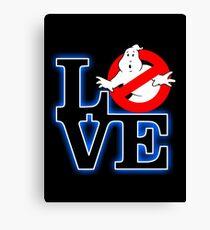 Love Park Ghostbusters Canvas Print