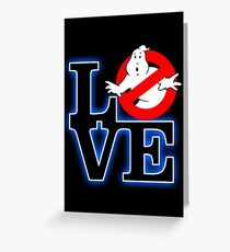 Love Park Ghostbusters Greeting Card