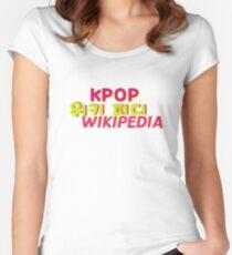 KPOP WIKIPEDIA LOGO  Women's Fitted Scoop T-Shirt