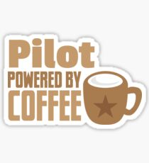 pilot powered by coffee Sticker