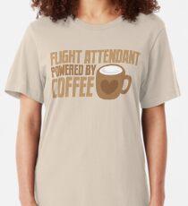 flight attendant powered by coffee Slim Fit T-Shirt