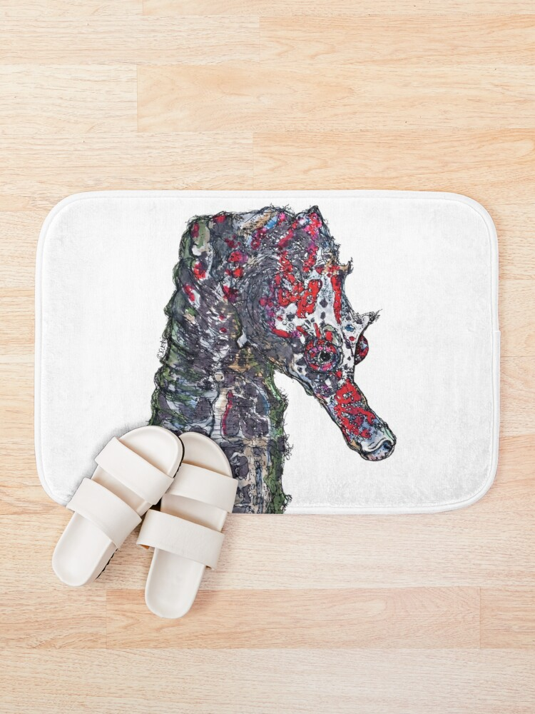 Alternate view of Lady Jayne Seahorse of Manly Nets Bath Mat