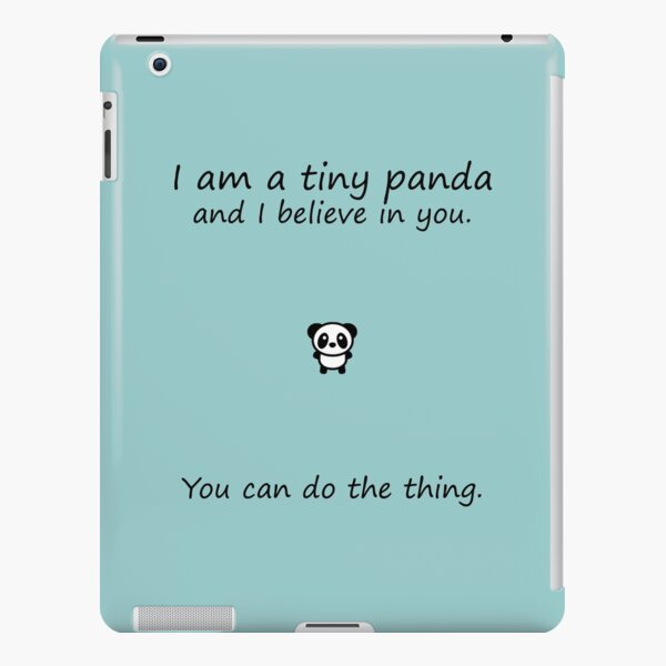 Tiny Panda Believes In You iPad Snap Case