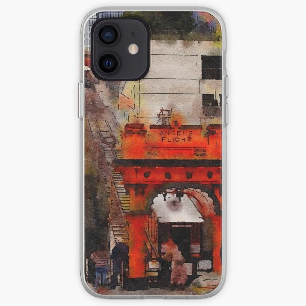Angels Flight, Los Angeles, California Watercolor iPhone Soft Case