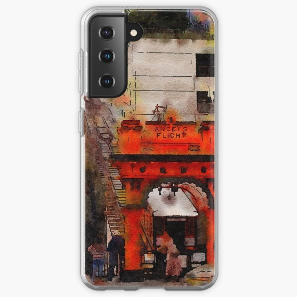 Angels Flight, Los Angeles, California Watercolor Samsung Galaxy Soft Case