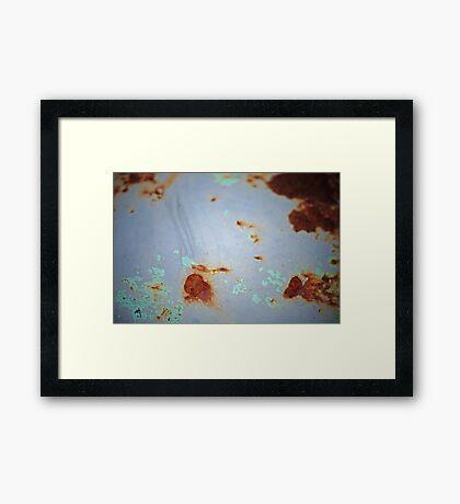 Shades of blue Framed Print