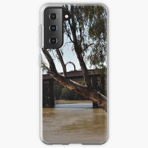 Bridge across the Murray at Echuca VIC Samsung Galaxy Soft Case