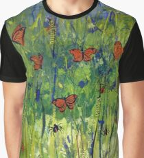 In the Garden Watercolour Painting Graphic T-Shirt
