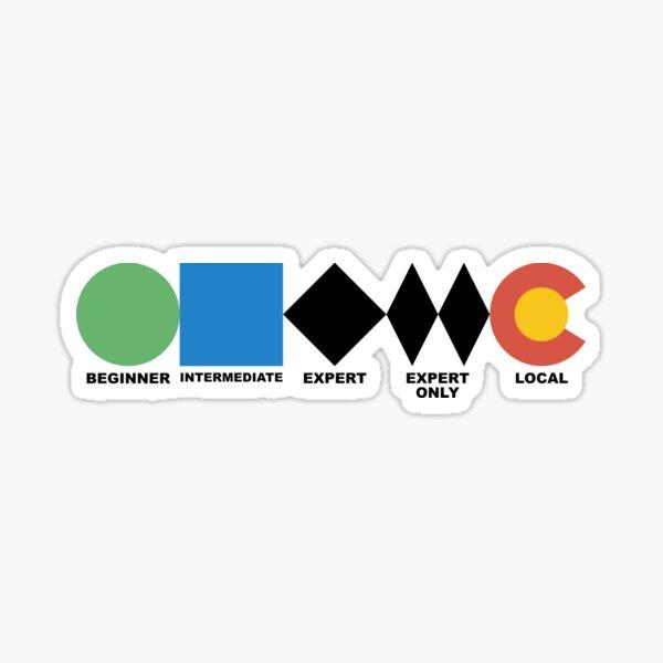 Ski Difficulties  Sticker