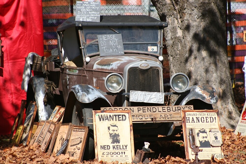 Antique Haven with Signs by Kellea Croft