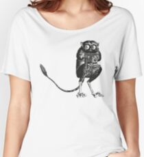 Say Cheese! | Tarsier with Vintage Camera Women's Relaxed Fit T-Shirt