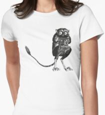 Say Cheese! | Tarsier with Vintage Camera Women's Fitted T-Shirt