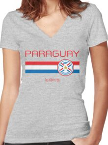 Copa America 2016 - Paraguay (Away Grey) Women's Fitted V-Neck T-Shirt