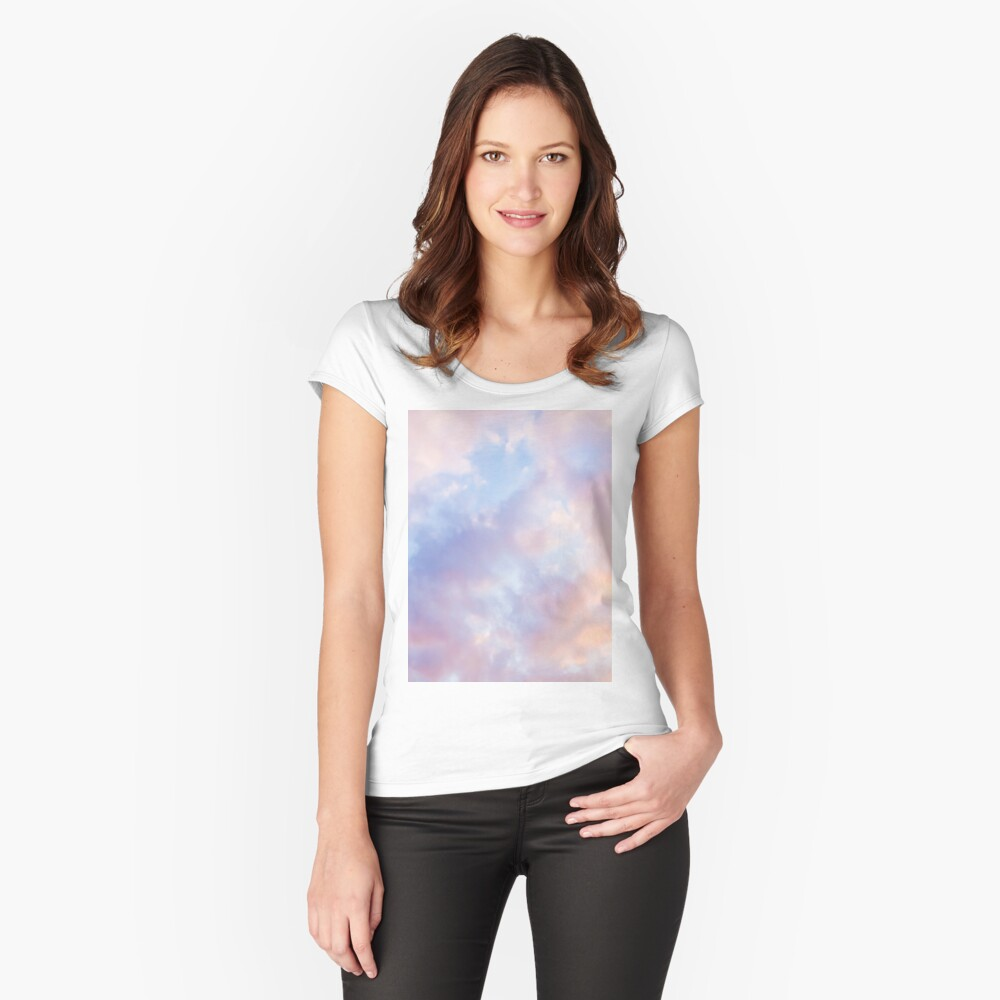 Pink sky Fitted Scoop T-Shirt