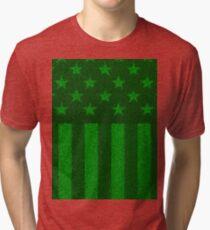 The grass and stripes Tri-blend T-Shirt