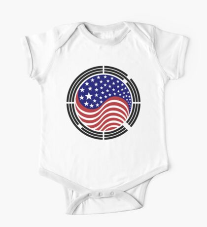 Korean American Multinational Patriot Flag Series Kids Clothes