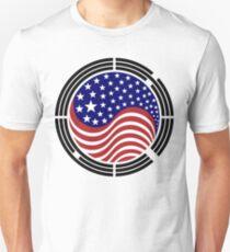 Korean American Multinational Patriot Flag Series Unisex T-Shirt
