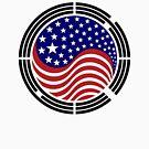 Korean American Multinational Patriot Flag Series by Carbon-Fibre Media