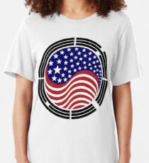 Korean American Multinational Patriot Flag Series Slim Fit T-Shirt