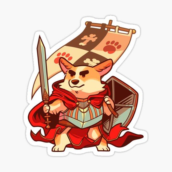 Corgi knight Sticker