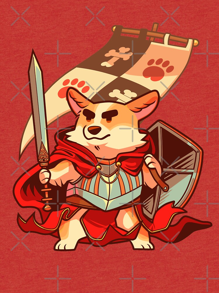 Corgi knight by Colordrilos