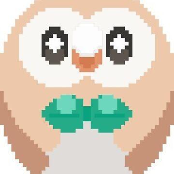 Pixel Rowlet Sticker by petitecitrus