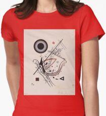 Kandinsky - Blue 1922  Womens Fitted T-Shirt