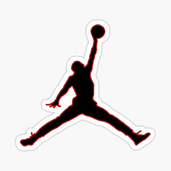 Michael Jordan Jumpan Sticker