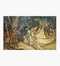 """A Midsummer Night's Dream"" - Arthur Rackham Fairy Tale Art Photographic Print"