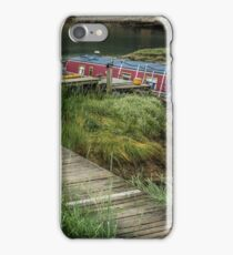 Houseboat on river Hamble, England iPhone Case/Skin