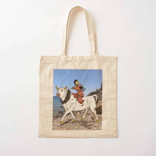 Europa, Princess of Tyre, Mother of Minos - and the Bull Zeus - leaving Crete Cotton Tote Bag