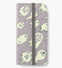 Purple Ghost Pattern iPhone Wallet