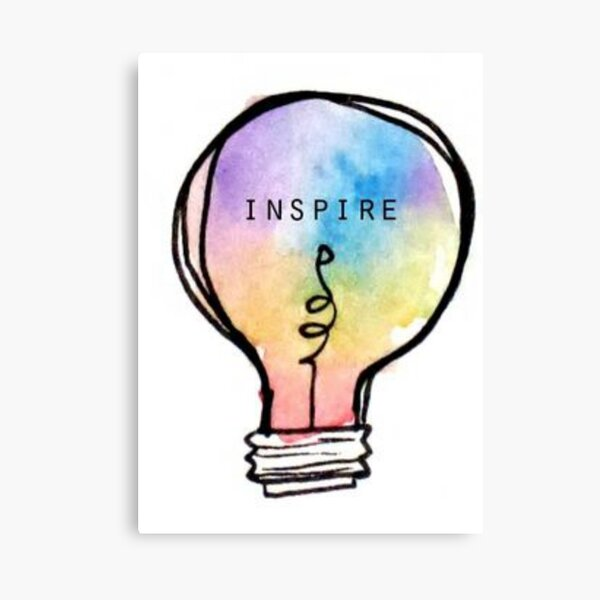 Inspire Lightbulb Canvas Print