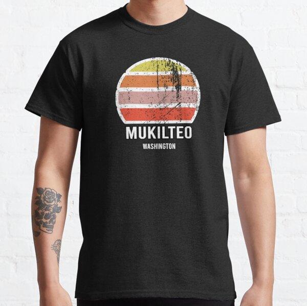 Mukilteo Washington Abstract Vintage Sunset American Cities Souvenir Classic T-Shirt