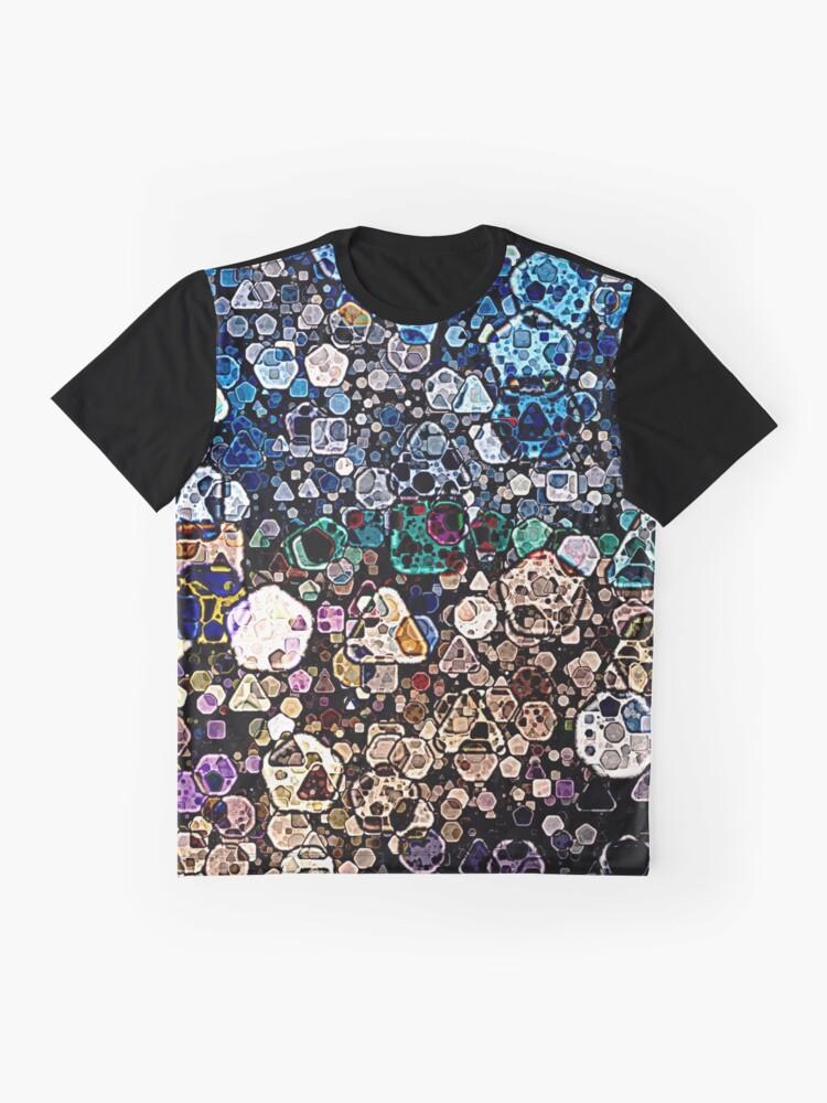 Vista alternativa de Camiseta gráfica Formas geométricas abstractas