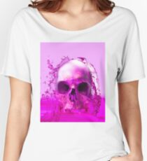 Purple Skull in Water Women's Relaxed Fit T-Shirt
